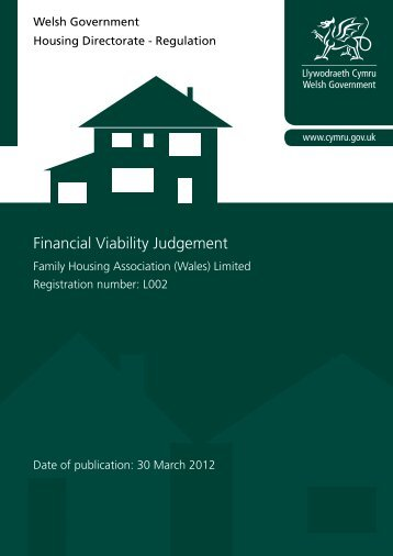 Financial Viability Judgement - Family Housing Association (Wales)