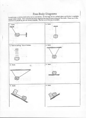 Printables Free Body Diagram Worksheet free body diagram worksheet davezan diagrams davezan