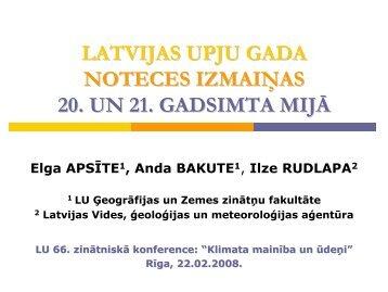 2006. salīdzinot ar 1951.-1987. - Klimata maiņas ietekme uz Latvijas ...