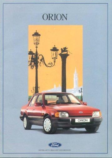 ORION - Club Ford Orion España