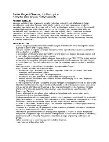Job Description: Project Director For Microfinance Demonstration