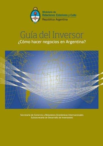 Guía del Inversor 2011 - Inversiones.gob.ar