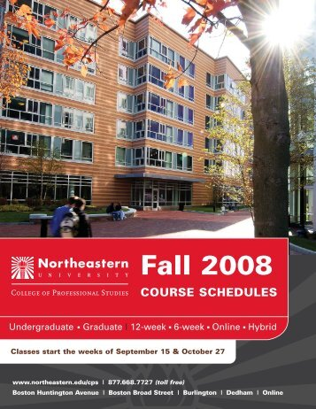 Undergraduate Graduate - Northeastern University College of ...
