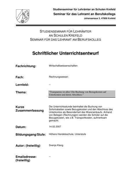 Svenja Klang 2 Unterrich