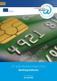 ICT and e-Business Impact in the Banking Industry - empirica