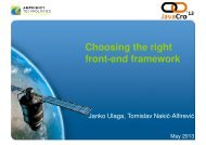 Choosing the right front-end framework - HrOUG