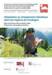 Adaptation au changement climatique dans les régions de montagne