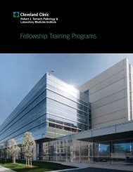 Fellowship Training Programs - Cleveland Clinic Laboratories > Home