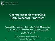 Quanta Image Sensor (QIS): Early Research Progress - Eric Fossum