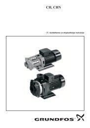 Grundfos sūknis CH un CHN - instrukcija - Sanistal