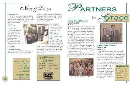 Jansen Bible Church Living Word Ministries - Grace