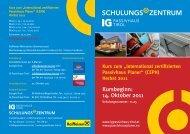 SCHULUNGS ZENTRUM - IG Passivhaus Tirol