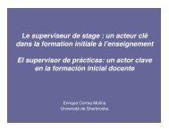 Le superviseur de stage : un acteur clé dans la formation initiale à l ...