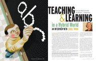 Teaching and Learning in a Hybrid World - National Center for ...