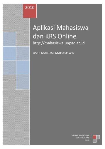 Aplikasi Mahasiswa dan KRS Online - FE Unpad - Universitas ...