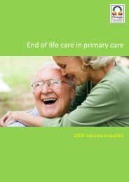 End of life care in primary care - Omega