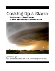 Cooking Up A Storm - The Environmental Law Centre - University of ...