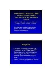 The Newcastle-Ottawa Scale - Evidence-based Public Health