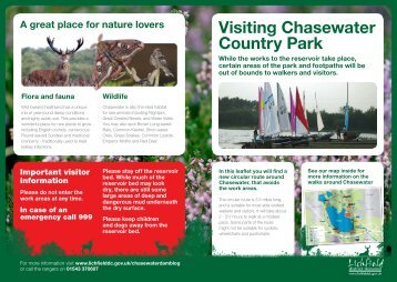 Chasewater Country Park footpaths and map