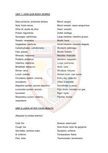 Vocabulario PRIMER TRIMESTRE - Colegio Diocesano San Ignacio ...