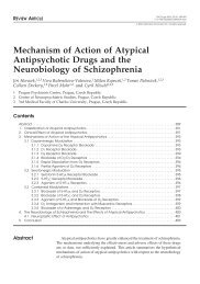 Mechanism of Action of Atypical Antipsychotic Drugs and the ...