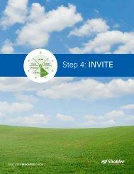 Step 4: INVITE - Shaklee