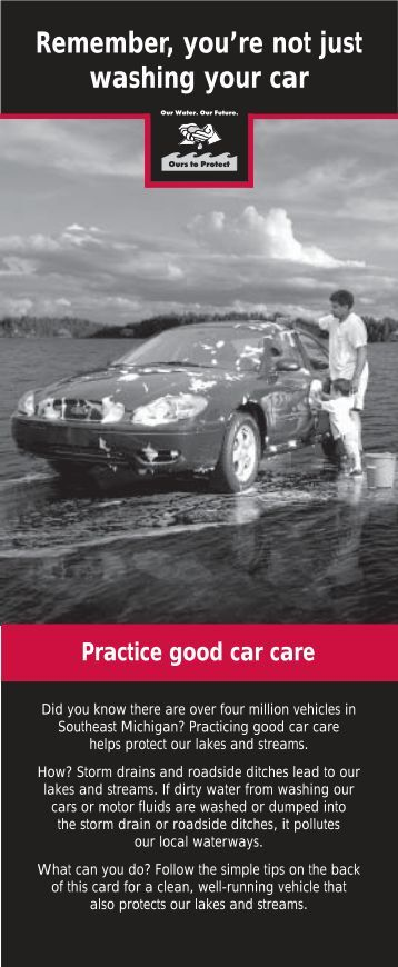 Practice Good Car Care
