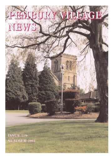 Issue 118 - the Pembury Village Website