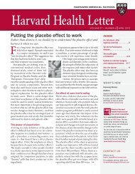"""""""Putting the placebo effect to work"""" Harvard Health - Program in ..."""