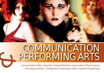 • Communication Skills • Stagecraft • Acting & Directing ...