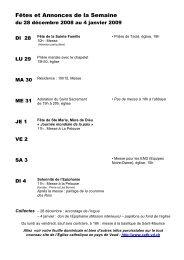 FEUILLE DOMINICALE du 28.12.08 au 04.01.09 - Cath-vd.ch