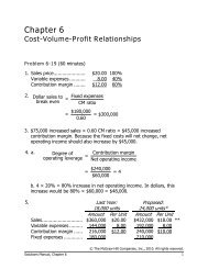 Cost-Volume-Profit Relationships - Fgamedia.org
