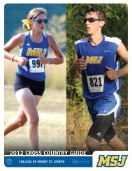 2012 CROSS COUNTRY GUide - MSJ Lions Athletics