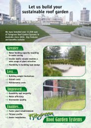 Let us build your sustainable roof garden - Fytogreen