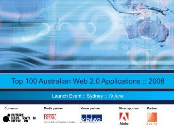 Top 100 Australian Web 2.0 Applications :: 2008 - Trends in the ...
