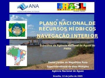 plano nacional de recursos hídricos navegação interior - Ana