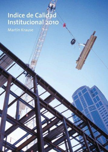 Indice de Calidad Institucional 2010