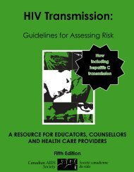 HIV transmission: guidelines for assessing risk - Canadian AIDS ...