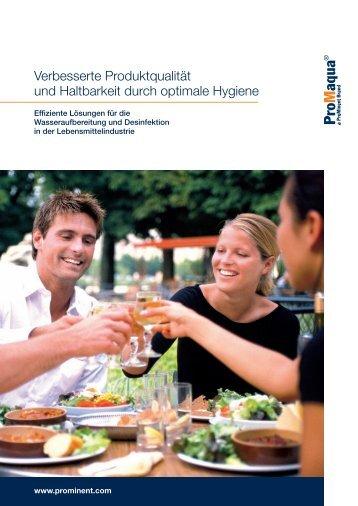 Nahrungsmittelindustrie - ProMinent