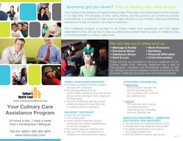 Your Culinary Care Assistance Program - the Culinary Health Fund