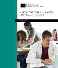 Catalyst for Change: - The Council of Independent Colleges
