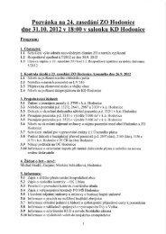 Pozvánka na 24. zasedání ZO Hodonice - Obec Hodonice