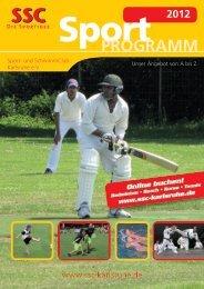 SSC-Sportprogramm - Sport und Schwimmclub Karlsruhe eV