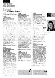 und Gastgewerbe Seminarprogramm 2009 - Volkshochschule ...