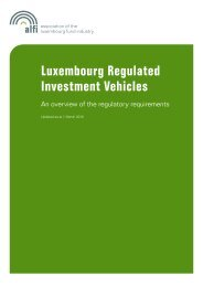 Luxembourg Regulated Investment Vehicles - Alfi