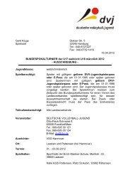 AUSSCHREIBUNG-A 2012 Hannover - Deutscher Volleyball-Verband