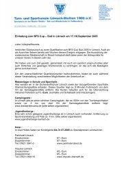 Einladung an die Mannschaften - Deutscher Volleyball-Verband