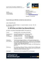 12. BFS-Ran-ans-Netz-Cup (Damen/Herren) - Deutscher Volleyball ...