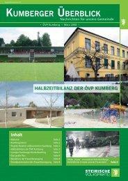 Amtliche Mitteilungen - Marktgemeinde Kumberg