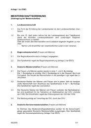 MEISTERSCHAFTSORDNUNG - Deutscher Volleyball-Verband